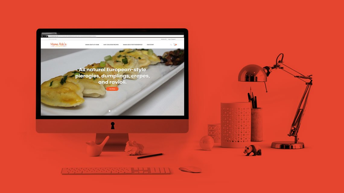 Website Design & Development for a New Pasta Brand
