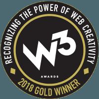 Gold Website Creativity Winner