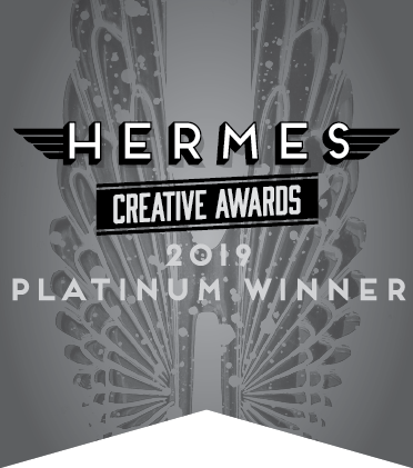 2019 PLATINUM Hermes Creative Awards winner for our Pro Bono work for Grounded in Philly