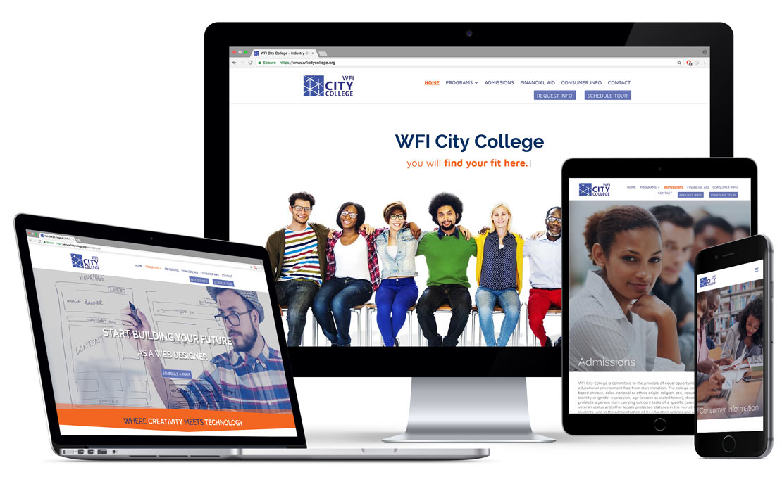 Mobile-first web design, development and brand identity refresh for an educational institution