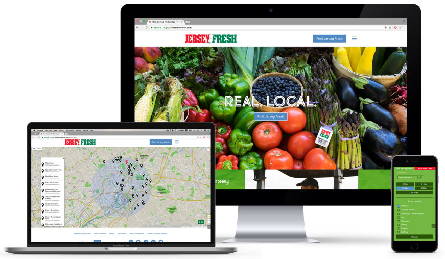 Mobile-first brand experience and website development for Jersey Fresh (NJ Department of Agriculture)